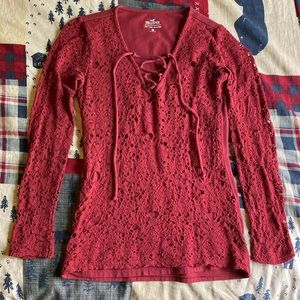 Hollister lace long sleeve